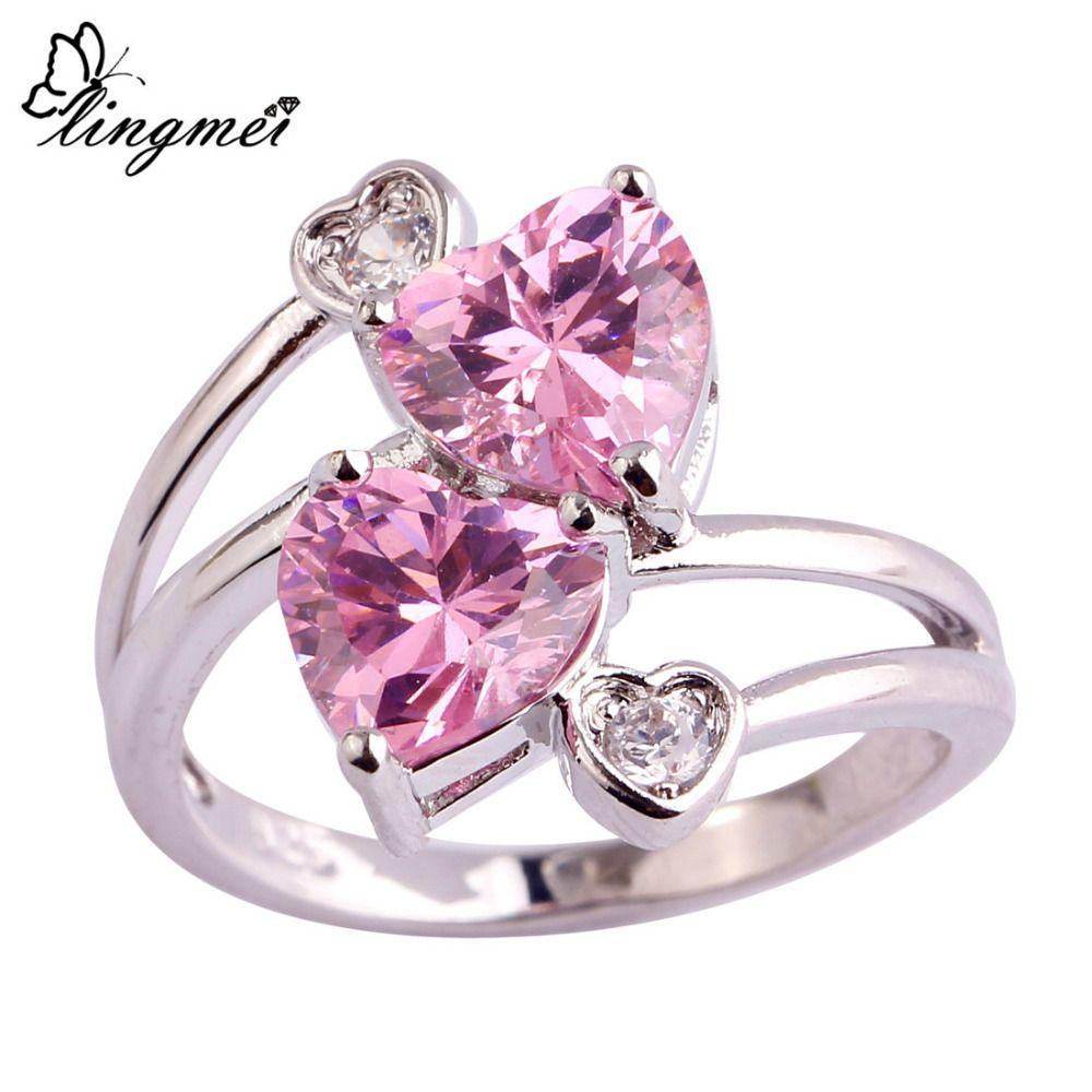 $2.85 AUD Aliexpress lingmei Double Loving Heart Romanti ...