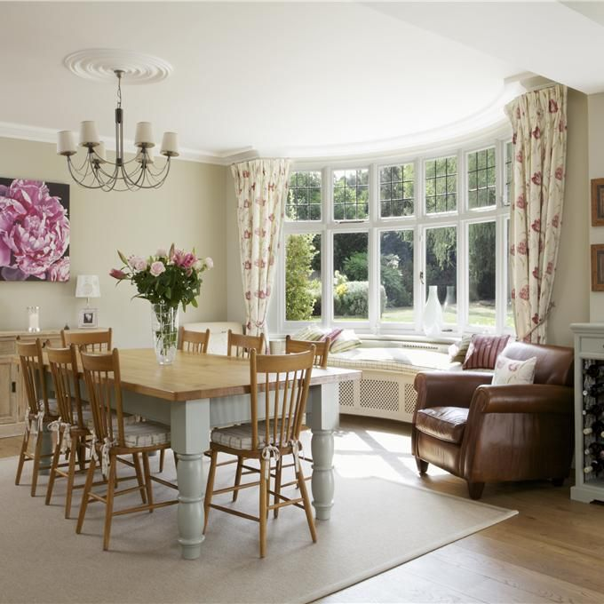 dining room in clunch wimborne white farrow and ball. Black Bedroom Furniture Sets. Home Design Ideas