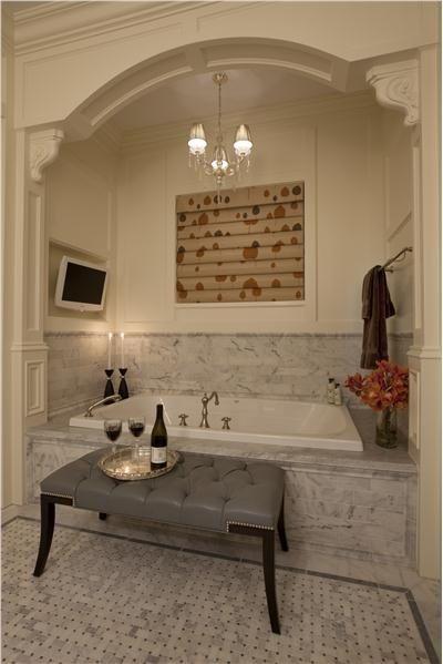 Romantic Bath By Michael Abrams Corbels Panel Molding Crown Molding Home Traditional Bathroom Designs Bathrooms Remodel