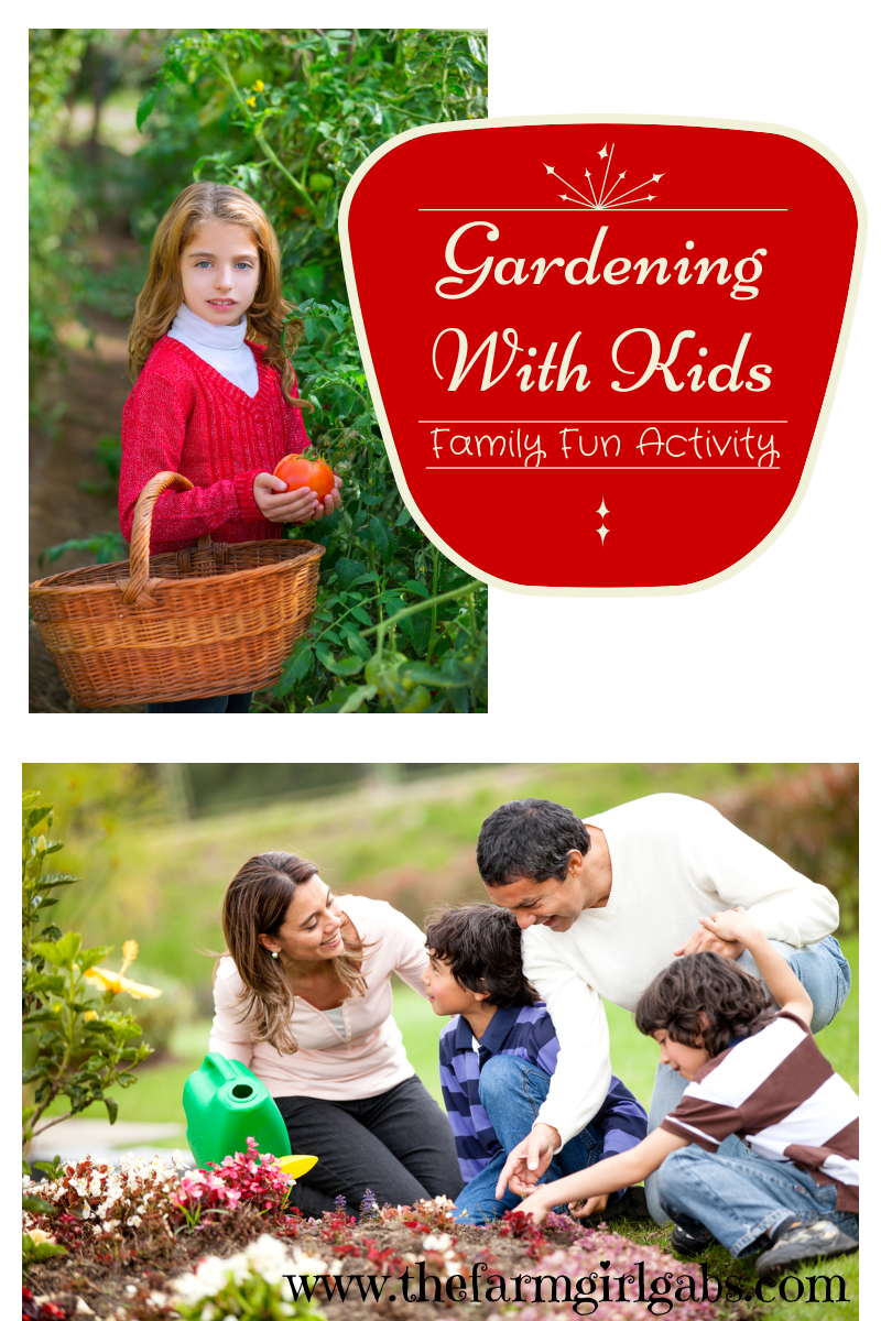 Gardening with kids is a fun family activity. Tips and ideas to make flower and vegetable gardening fun for the whole family!