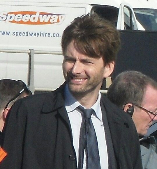 David behind the scenes of Broadchurch