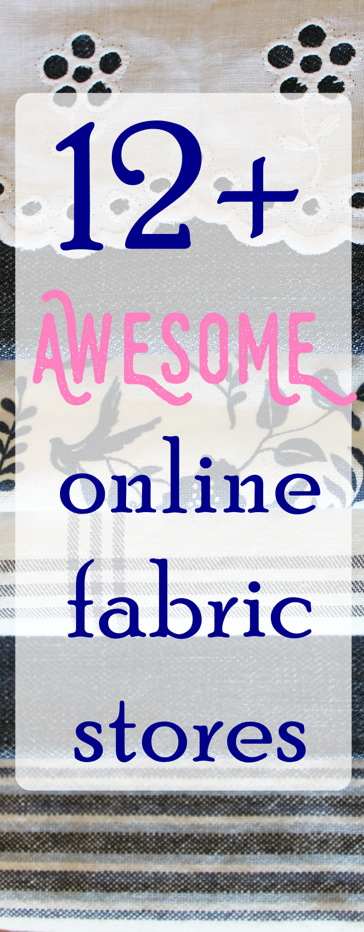 12 Online Fabric Stores With Huge Perks Buy And Save Sew Some Stuff Fabric Stores Online Discount Fabric Online Sewing Projects For Beginners