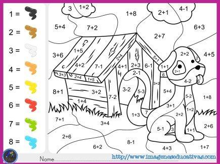 Colorea por por sumas y números | educativos | Pinterest | Fichas de ...
