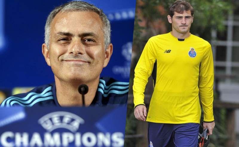 """Mourinho: """"Si mañana veo a Casillas, obviamente lo voy a saludar"""" - El portugués José Mourinho, entrenador del Chelsea, adelantó que saludará mañana al meta del Oporto Íker Casillas, con el que mantuvo una tensa ..."""