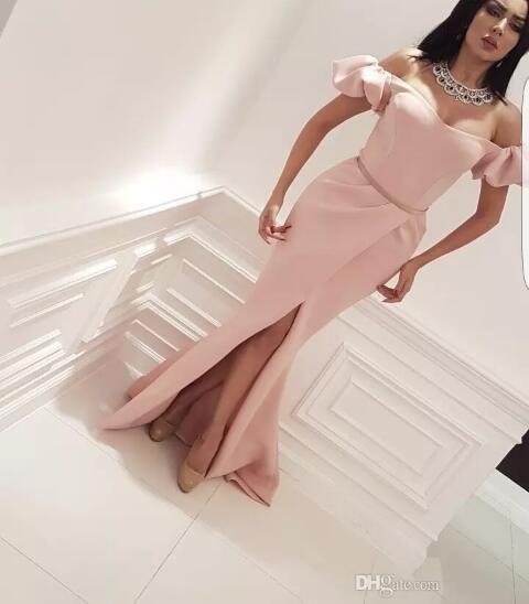 Pink Evening Wear Dresse 2019 Yousef Aljasmi Saudi Arabia ...
