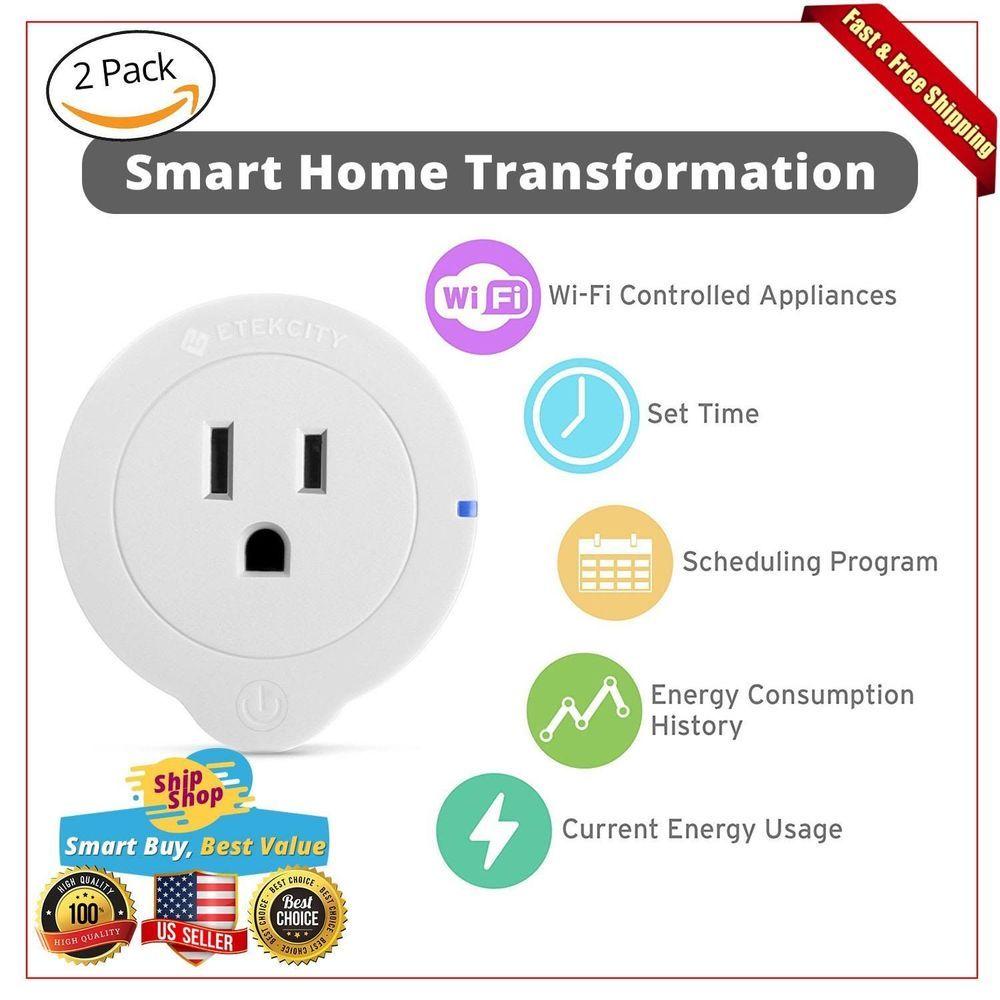 Mini Wifi Smart Plug Socket Smartphone Home Control Track