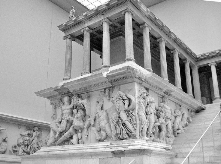 The Gigantomachy Frieze Battle Between Gods Giants 164 156 Bc Marble Bas Relief Pergamon Altar Berlin Staatlichen Museen Pergamon Museum