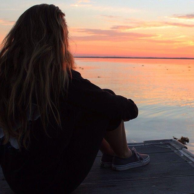 Beautiful Woman Face Over Beach Sunset Stock Image: Fotos Tumblr Na Praia, Fotos E