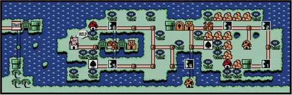 Mario 3 World Map.Super Mario Bros 3 World 4 Map Cross Stitch Pattern Pdf
