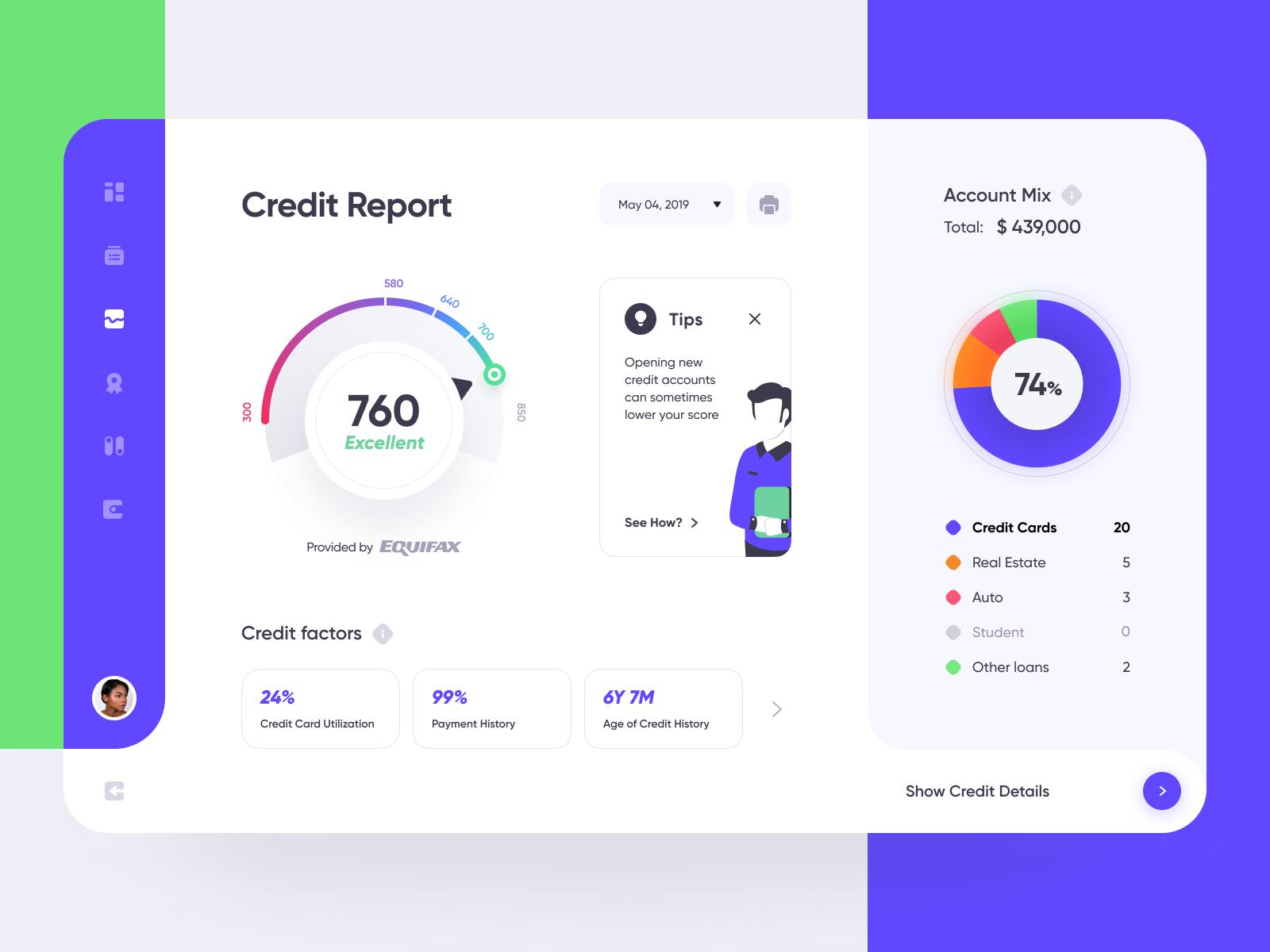 Credit Report Credit Score Web Design Web Design Inspiration Dashboard Design