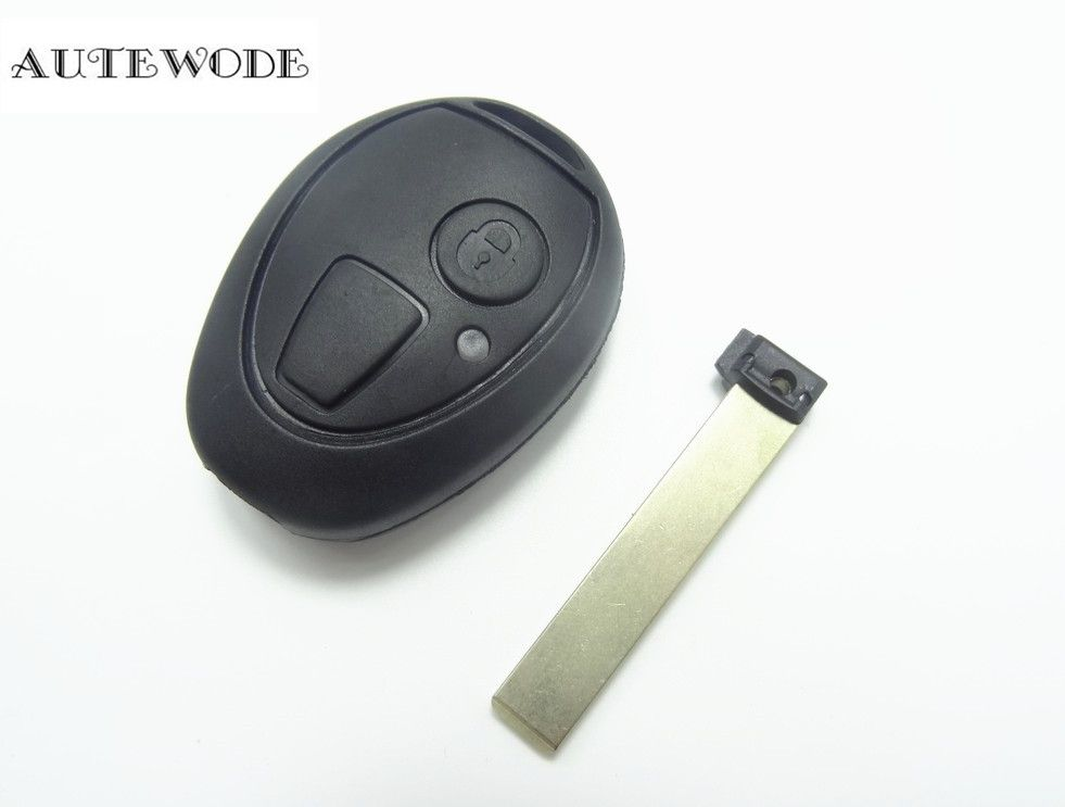 Autewode Replace 2 Buttons Remote Key Case Shell Fob Blank Fits For