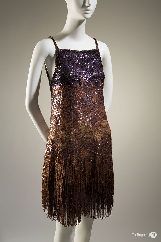 Yves Saint Laurent evening set, Fall 1969, France. Gift of Lauren Bacall, collection of The Museum at FIT.