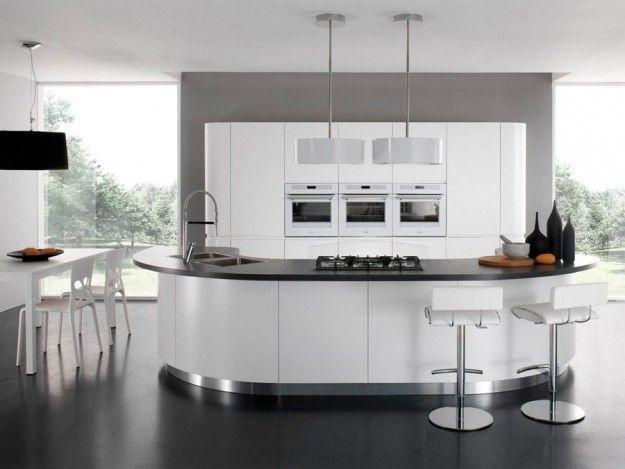 Arredare una cucina con isola - Cucina con isola curva