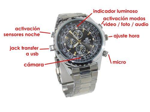 9bc6deb80157 Reloj Espía Full HD 16GB con Cámara Infrarroja Indetectable ...