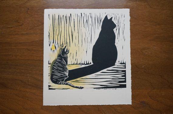 Mr Kat's Doppelganger by redmonkeypress on Etsy