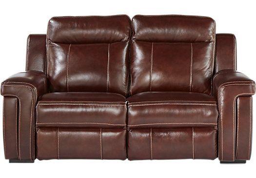 Amazing Oxford Street Burgundy Leather Power Reclining Loveseat Inzonedesignstudio Interior Chair Design Inzonedesignstudiocom
