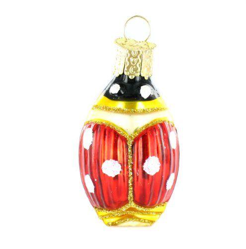 Old World Christmas Lucky Ladybug Ornament Christmas Ornaments