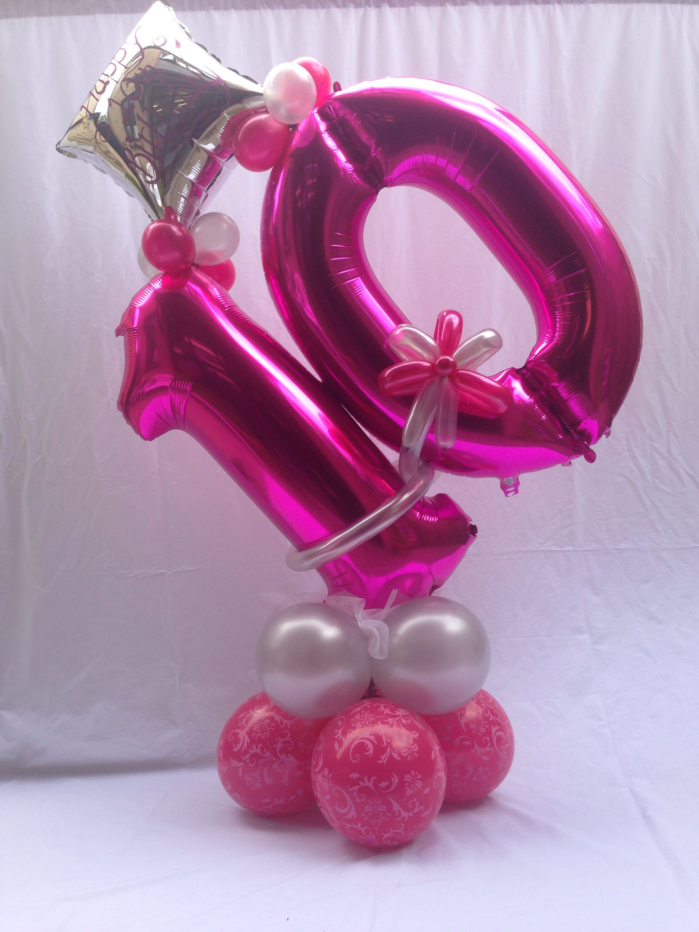 Age 10 Number Balloon Design Designed By Balloonbouquets Ukcouk