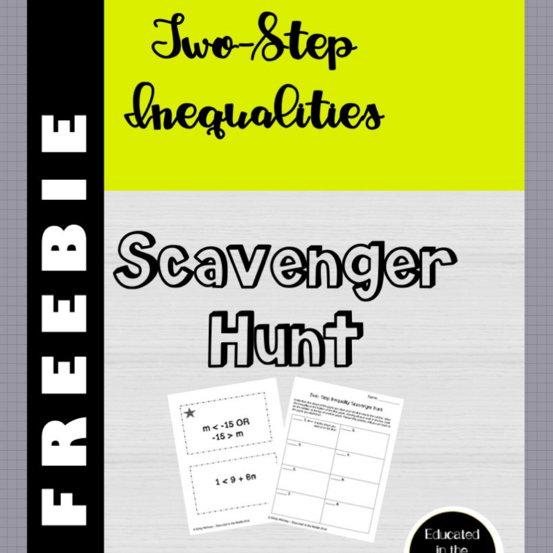 Free Two Step Inequality Activity Scavenger Hunt