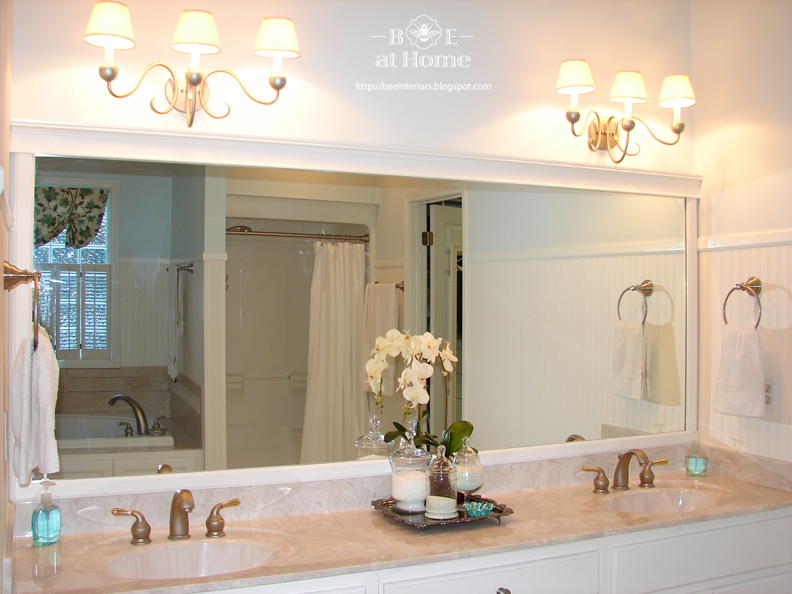 Updating large bathroom mirrors