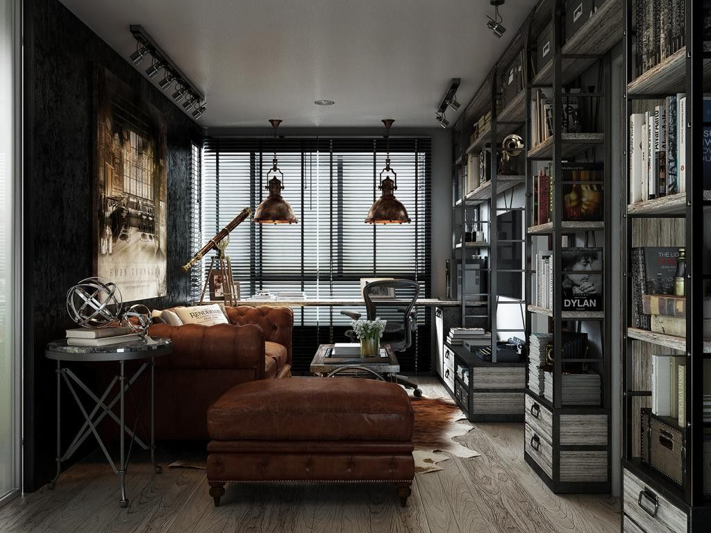 30 Comfy Industrial Living Room Ideas The Urban Inte
