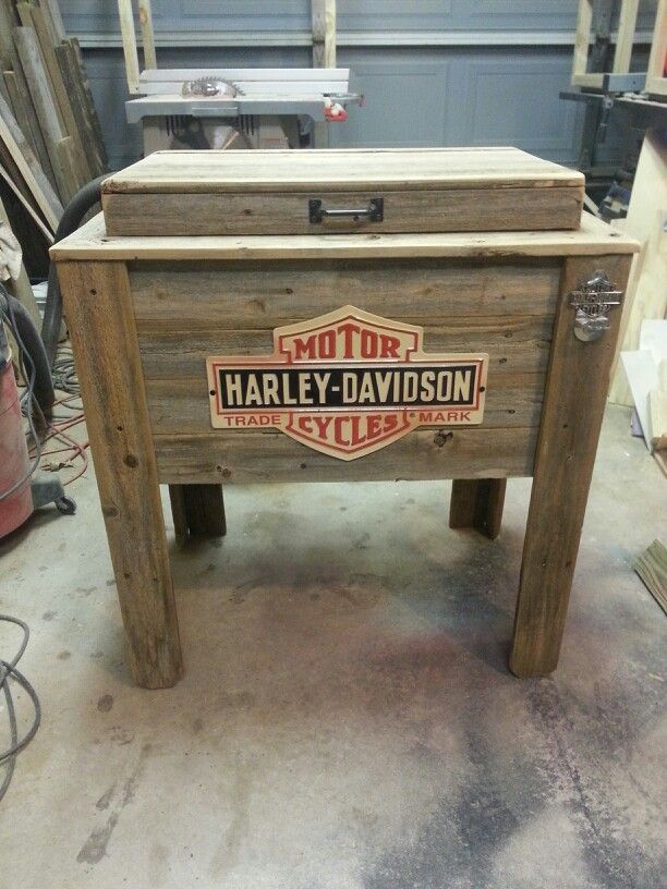 Harley Davidson Rustic Cooler Rustic Coolers By Jt S