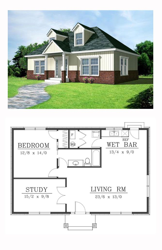 One Story Style House Plan 91874 With 2 Bed 1 Bath House Plans Cottage Plan Best House Plans