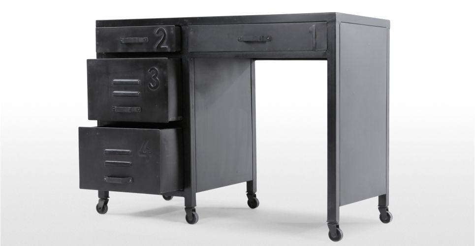 Rankin bureau métal noir made tables