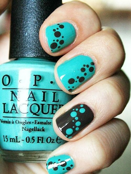tribal muster polka dot nail art check more at httpwwwneuemodetrendcom40 schone polka dot nails nagel trends um jetzt zu versuchen modetrends - Schone Nagel Muster