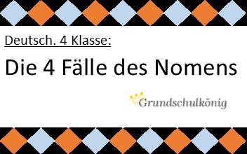 Die 4 f lle des nomens nominativ genitiv dativ akkusativ kostenlose bungen und for Genitiv deutsch lernen