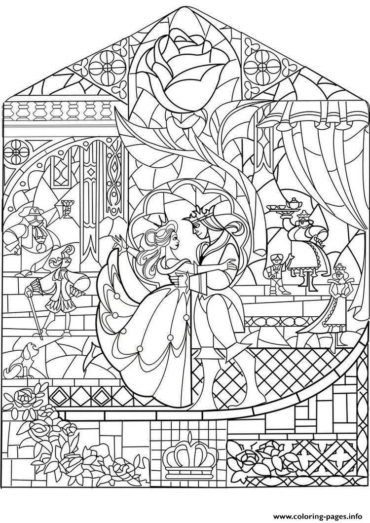 print adult prince princess art nouveau style coloring pages - Art Nouveau Unicorn Coloring Pages