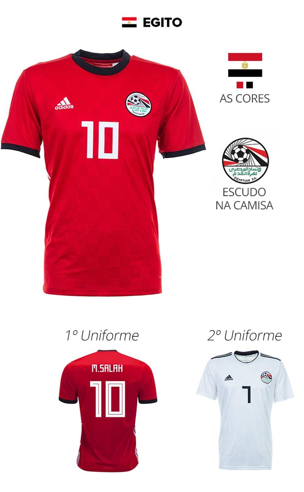 e87642fdf As camisas das 32 seleções da Copa. EGITO
