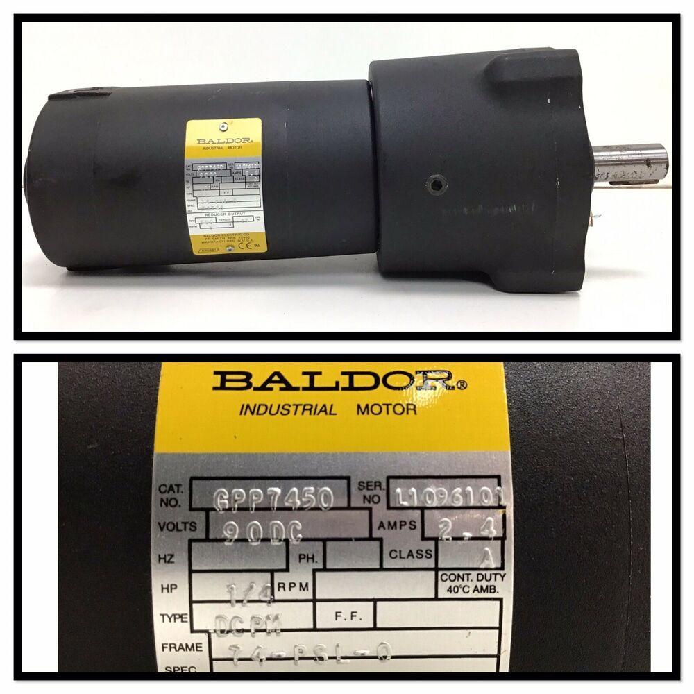 Baldor GPP 7450 Motor 1/4 HP 90VDC Ratio 5:1 GPP7450 #Baldor   Ebay, St kitts, Antigua