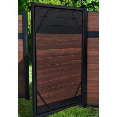 Veranda 5 Ft X 6 Ft Euro Style Adjustable Aluminum Metal Fence