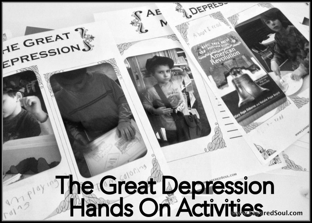 the great depression hands on activities layered soul ultimate homeschool encouragement. Black Bedroom Furniture Sets. Home Design Ideas
