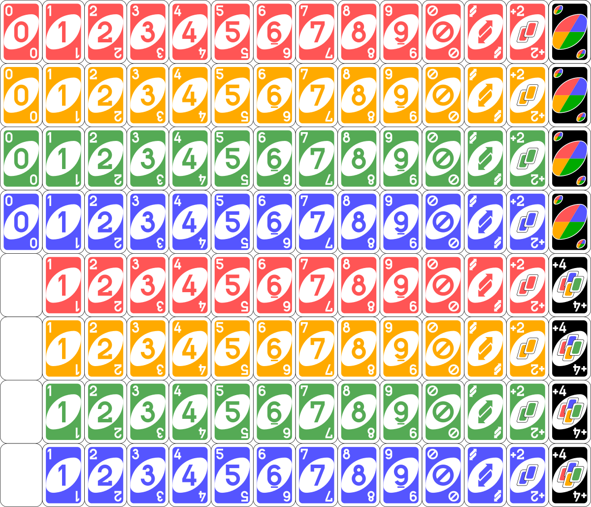 File Uno Cards Deck Svg Wikipedia Uno Cards Uno Card Game Printable Cards