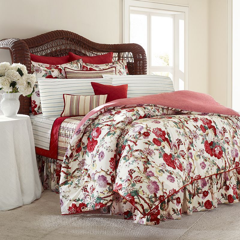 Chaps Sarah Floral 3 Pc Duvet Cover Set Comforter Sets