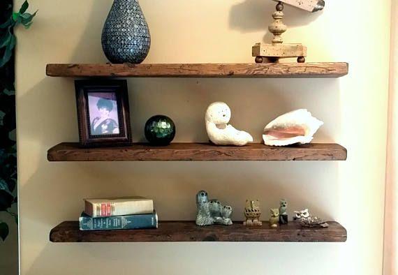 Any Length Floating Shelves Reclaimed Floating Shelf Wall Shelves