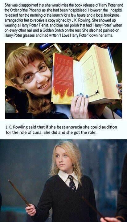 Anorexia, Health, Recovery, Inspiring story, J K Rowling, Harry Potter, Luna Lovegood, Evanna Lynch.