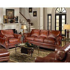 Best Bristol Vintage Leather Craftsman Living Room 4 Piece Set 400 x 300