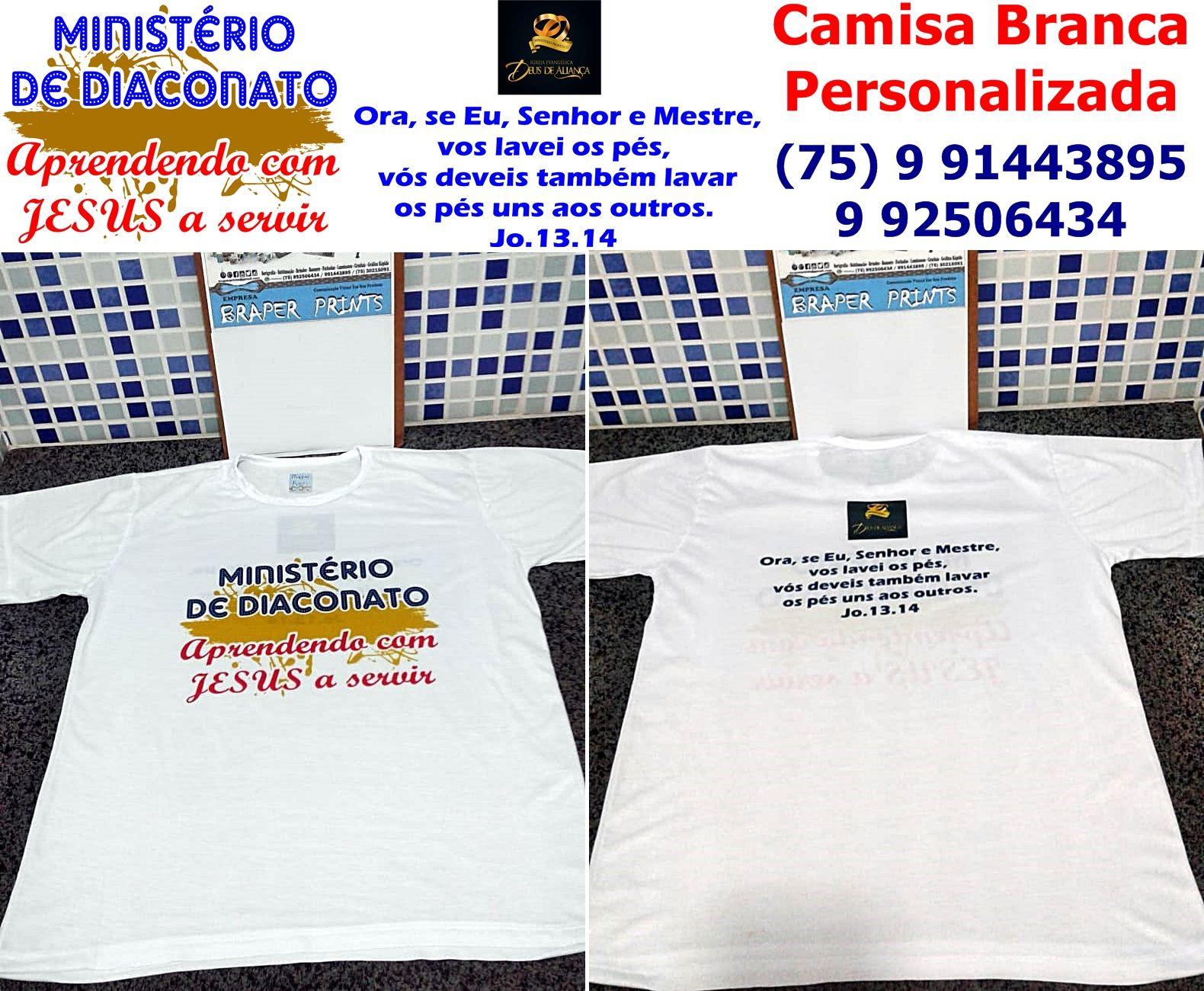 c230311da4 camisas brancas personalizadas ministério