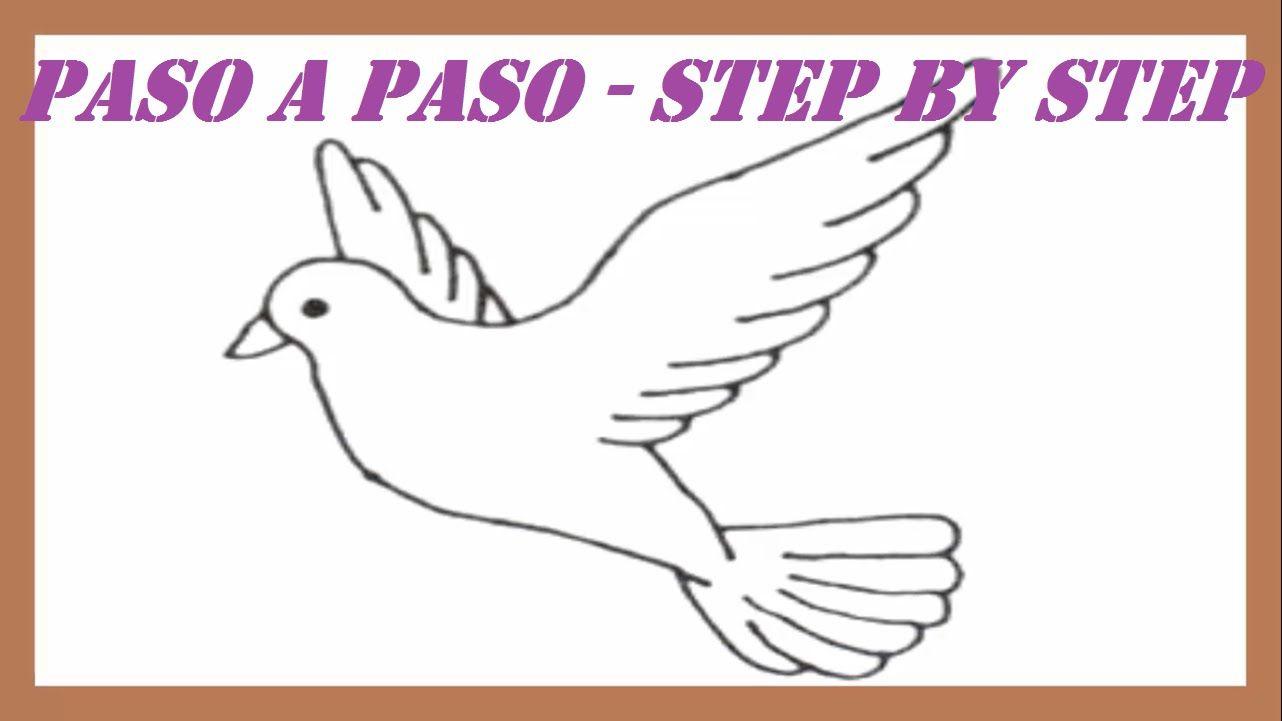 Como dibujar una Paloma de la Paz paso a paso l How to Draw a Dove ...