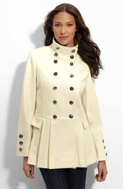 compliment your curves in this plus size military wool coat ...
