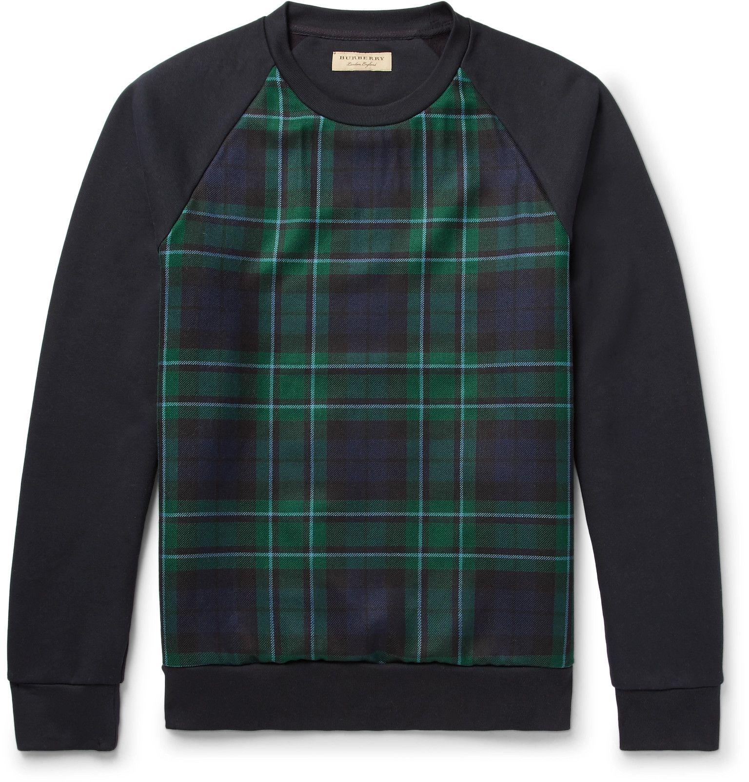98bc198b99b7 Burberry Black Watch Check Sweatshirt