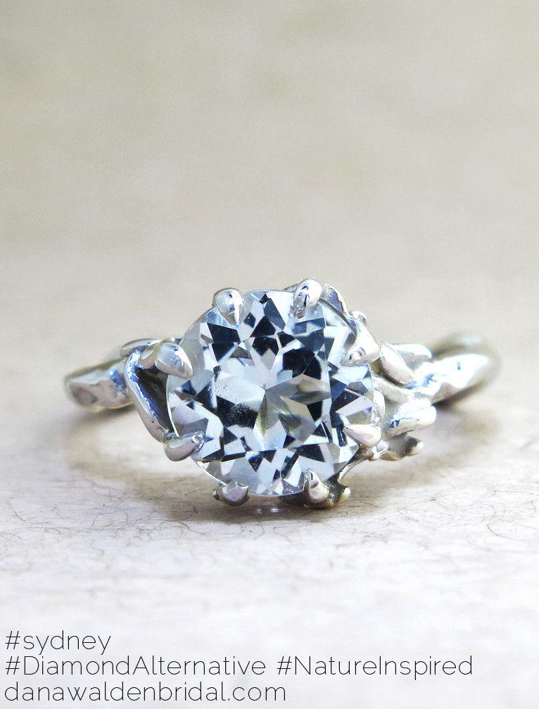 Sydney Organic Diamond Alternative Engagement Ring