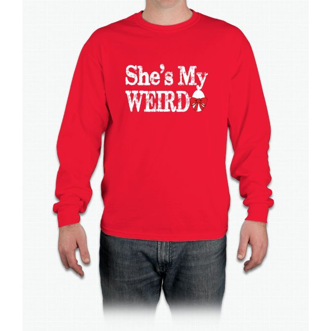 Shes My Weirdo Couple Pajamas Long Sleeve T-Shirt