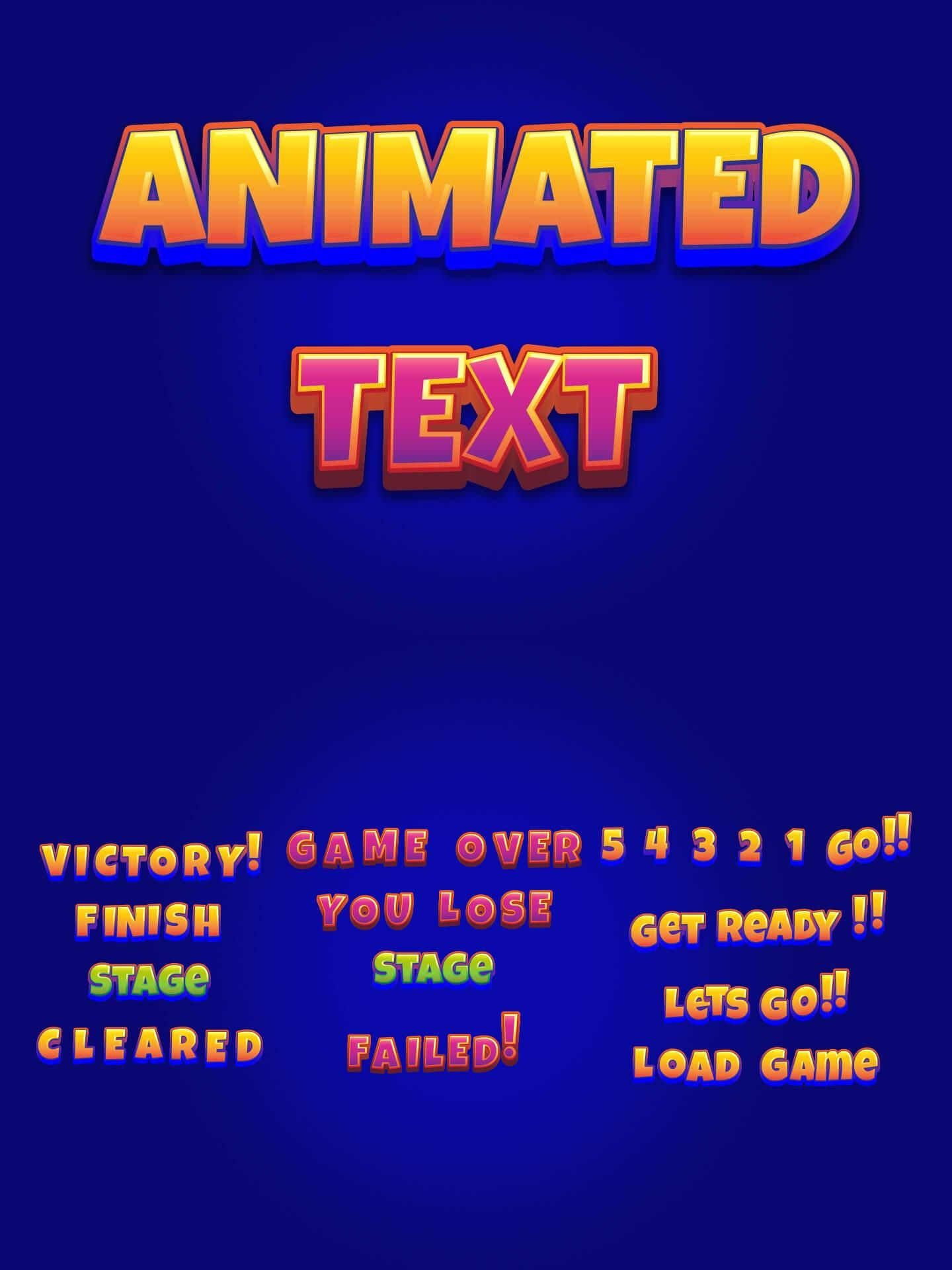 Animated Text Game Assets Pack в 2020 г Игры