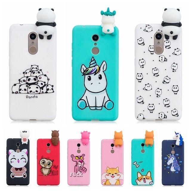100% authentic e99d7 f934d etui Xiaomi Redmi 5 Plus Case Cover on Redmi 5 3D Cute Panda Unicorn ...