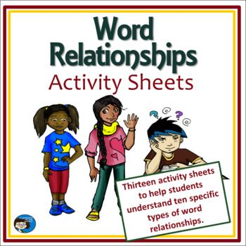 This Set Of 13 Activity Sheets Helps Kids Use Word Relationships To