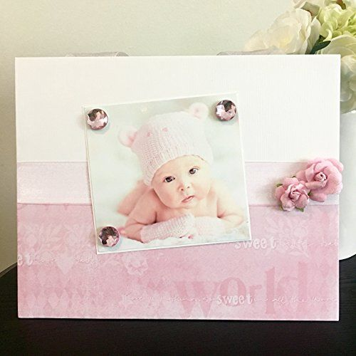 I Love You Sweet Baby Girl light pink floral jeweled gift handmade ...